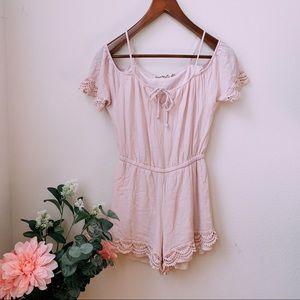 Pink Lace Romper 🌿